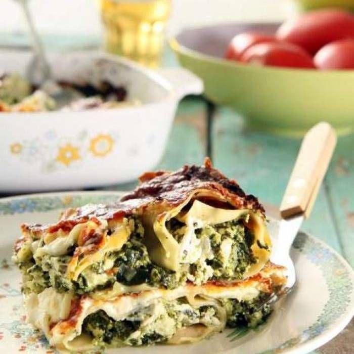 Vegetarisk lasagne med ricotta och spenat – recept