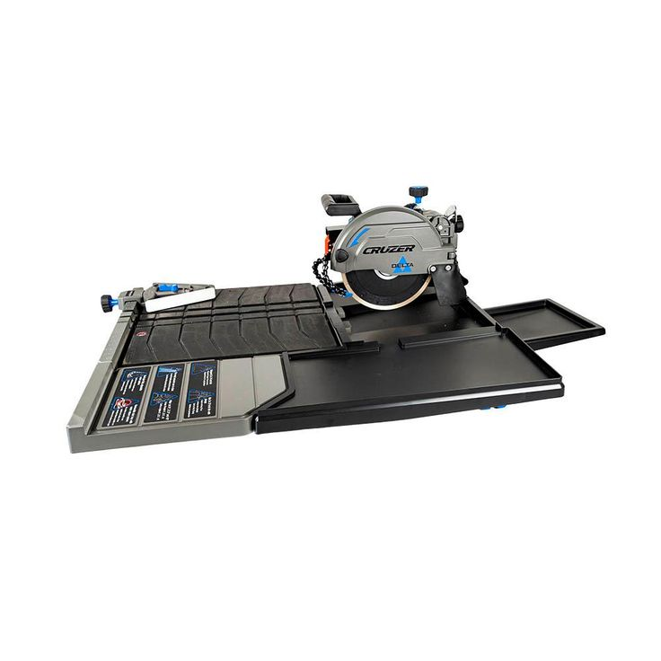 Delta Cruzer 15 Amp 10 Inch Wet Tile Saw In 2020 Tile Saw Stone Deck Decking Material