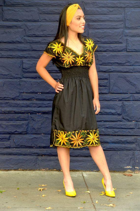Vestido mexicano con un toque moderno