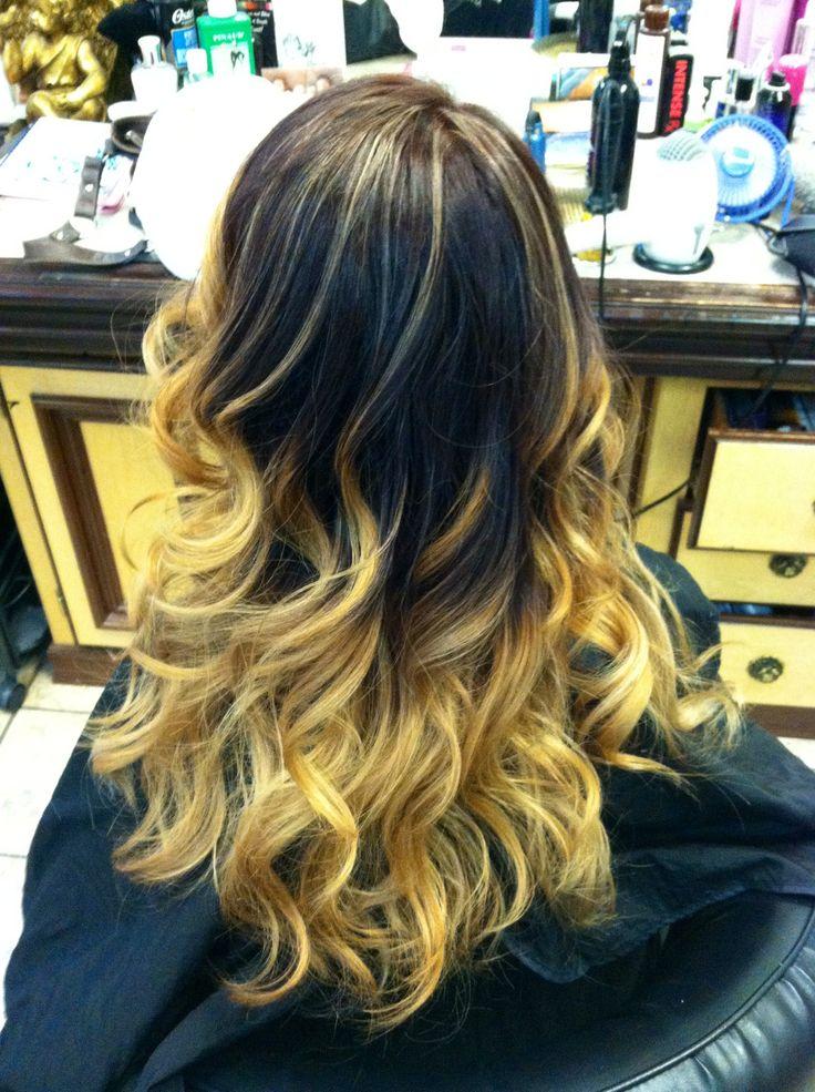 Ombre Hair Blond Caramel Maison Design Apsip