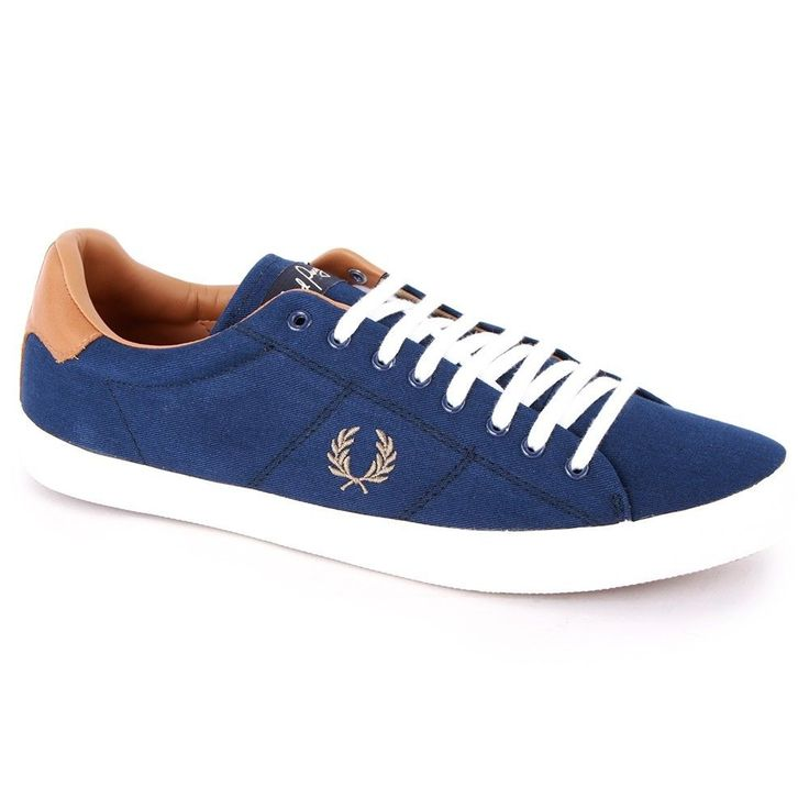 Fred Perry B4212 Howells Twill Mens Shoe French Navy BNIB UK Size 7