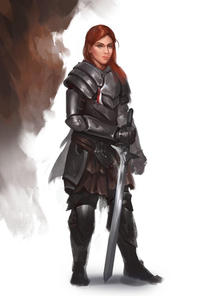Lady knight by RaV89.deviantart.com on @DeviantArt
