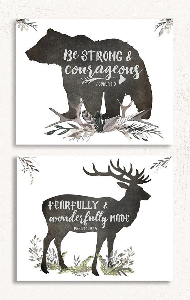 Woodland Nursery Set of Two - Perfect for a little boy's nursery!