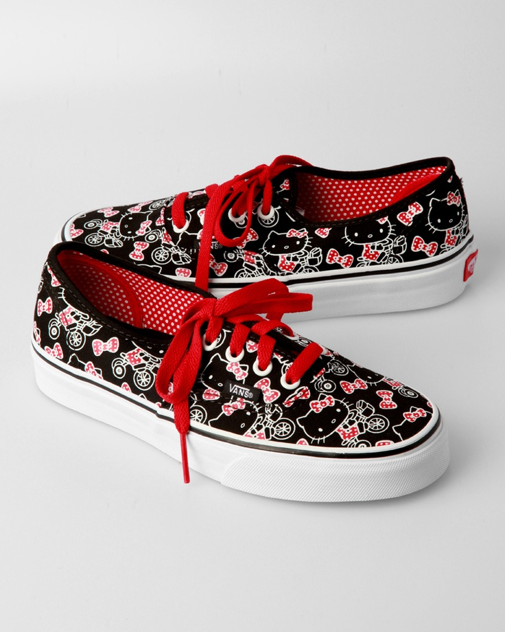 Vans Hello Kitty Authentic - Black / True White. Hello Kitty VansShoes  WomenShoe ...