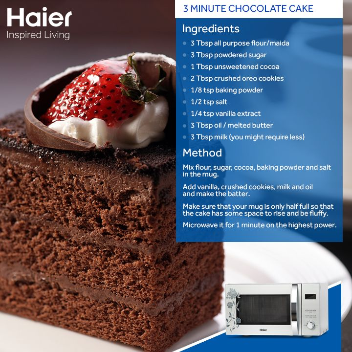Try this comforting #recipe made easily with #Haier's #microwaves.