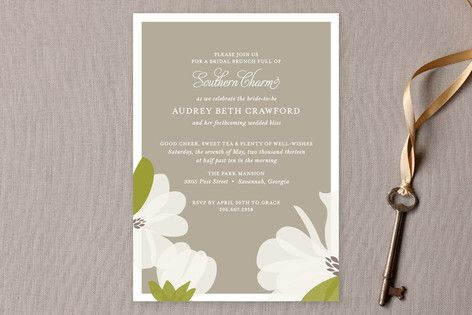 Southern Magnolia Bridal Shower Invitations by toast & laurel at minted.com