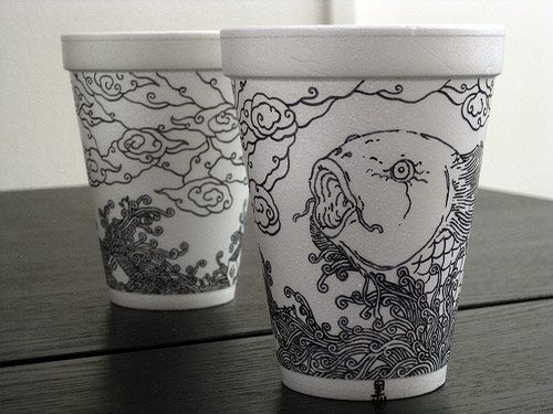 cheeming boey coffee cup drawing art artist illustration pen ink