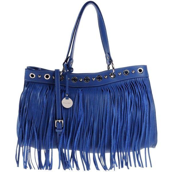 Pulicati Handbag ($215) ❤ liked on Polyvore featuring bags, handbags, blue, blue leather purse, hand bags, leather purse, handbags purses and blue handbags