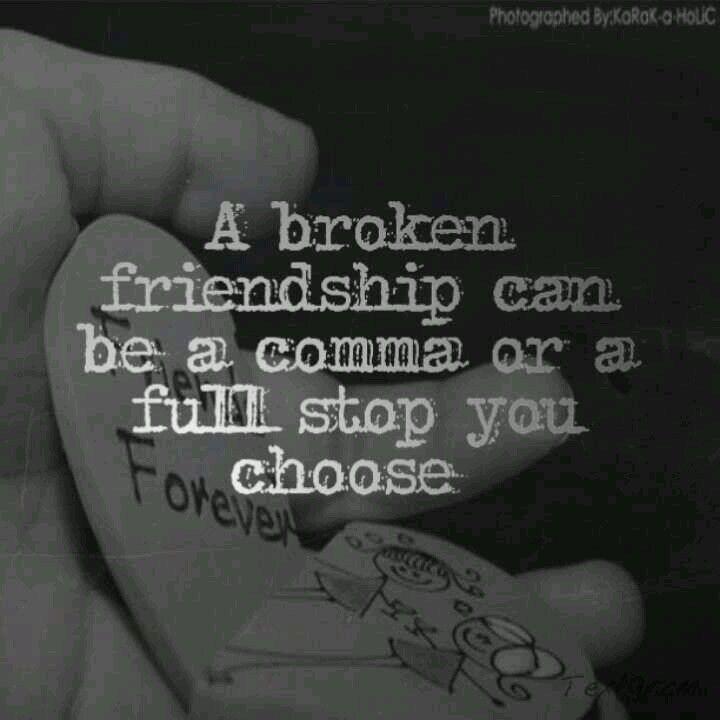 Broken Friendship Thoughts: 7 Best Broken Friendship Quotes Images On Pinterest