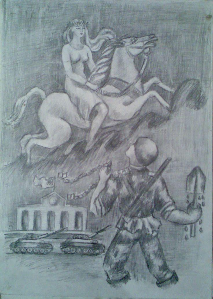 9 april tragedy, tbilisi 1989  painter Zeinab Buachidze
