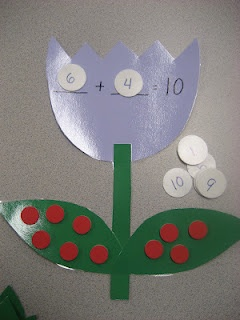 Kinder Doodles: Tulip patterns for making number bonds up to 10