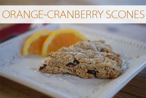 Orange-Cranberry Scones recipe {101 Days of Christmas at lifeyourway.net}