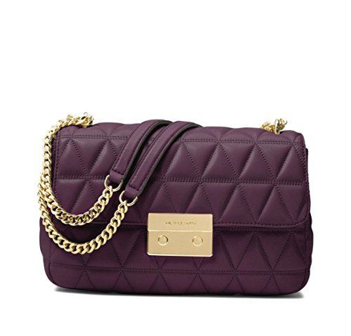 81a517c75eb1  259.15 - MICHAEL Michael Kors Sloan Large Quilted-Leather Shoulder Bag in  Damson