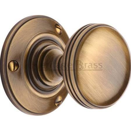 Richmond RHM988-AT Antique Brass Ringed Mortice Door Knobs