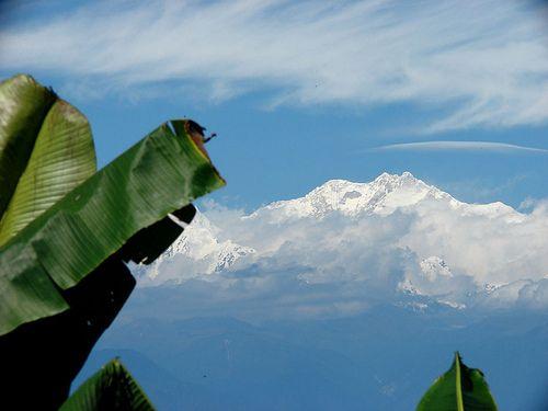 Living Beside the Mountains... Mt Kanchendzonga in the horizon