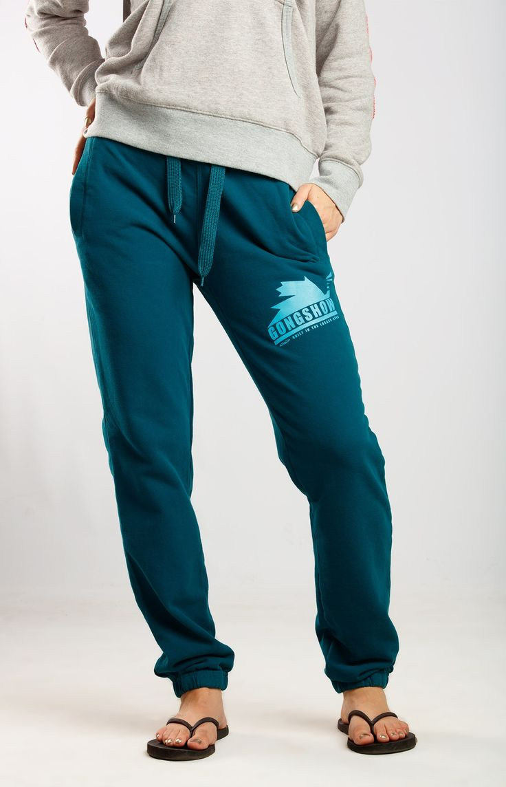 Wheel This Way Blue Womens Hockey Joggers Sweat Pants | GONGSHOW Hockey Lifestyle Apparel