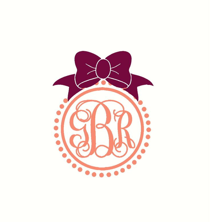 Initials For Car Vine Monogram Car Decal With Bow Car Monogram Decal Car Sticker Coral Car Decal Car Window Sticker Laptop Decal by RunWildVinylDesigns on Etsy