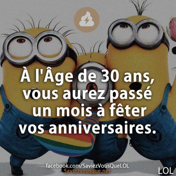 À l'Âge de 30 ans, vous aurez passé un mois à fêter vos anniversaires. | Saviez Vous Que?