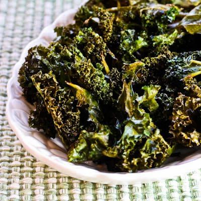 Kale chips with sea salt & vinegar. this site is a good source for South Beach Diet recipes