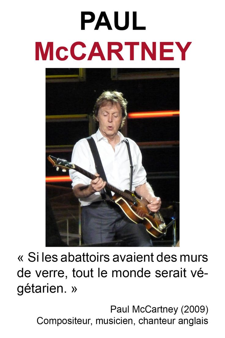 Citations des philosophes végétariens | Paul McCartney