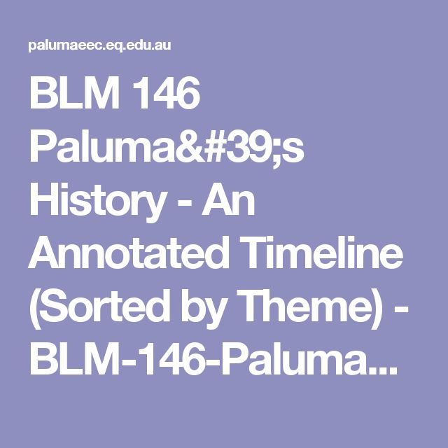 BLM 146 Paluma's History - An Annotated Timeline (Sorted by Theme) - BLM-146-Paluma's-History-An-Annotated-Timeline-(Sorted-by-Theme).pdf