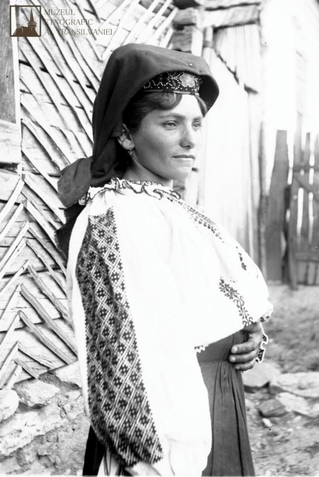 Pride in Romanian woman in Poiana, Caraș-Severin, 1923.  Photographed by anthropologist Romulus Vuia.