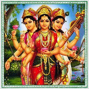 Lakshimi, Saraswati e Durga - Quadrinhos confeccionados em Azulejo no tamanho 15x15 cm.Tem um ganchinho no verso para fixar na parede. Inspirados em deuses indianos. Para entrar em contato conosco, acesse: www.babadocerto.com.br