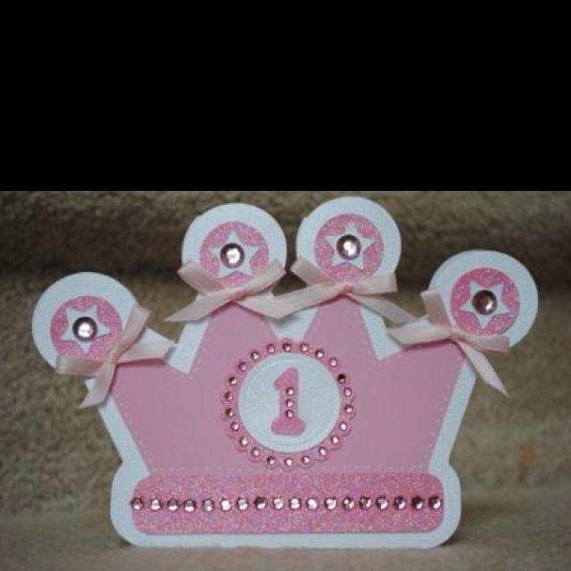 Birthday invitation I made for my baby girl using my Cricut