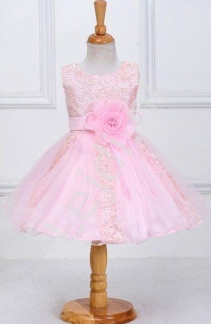 6165524ee9 Różowa sukieneczka dla dziewczynki