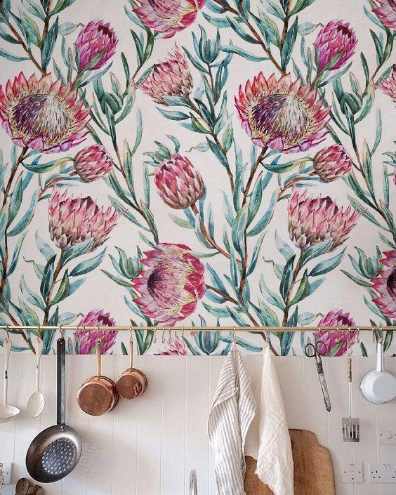 Protea wallpaper via @marcialovesit on Instagram