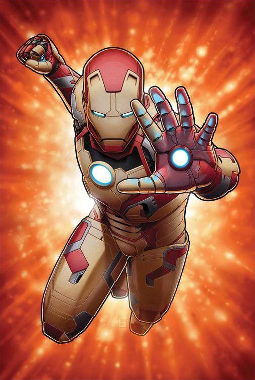 Imagen promocional de Iron Man 3 (2013), la Mark 42 por John Tyler Christopher
