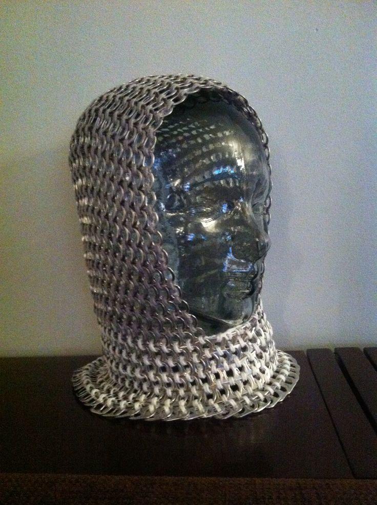 Pop tab hood for a little knight
