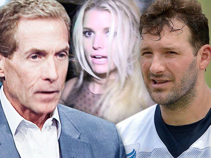 Skip Bayless -- Jessica Simpson Damaged Tony Romo ... 'Tumultuous Relationship'