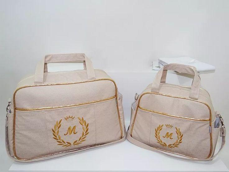 Kit Bolsa De Bebe Maternidade Personalizada! 4 Pçs Promoção! - R$ 179,99 em Mercado Livre