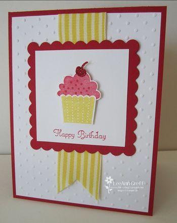 flowerbug.typepad...: Cards Cupcake, Cards Ideas, Cards Birthday, Birthday Cards, Stampin Up, Cupcake Punch, Cupcake Stampin, Cards Templates, Cupcake Cards
