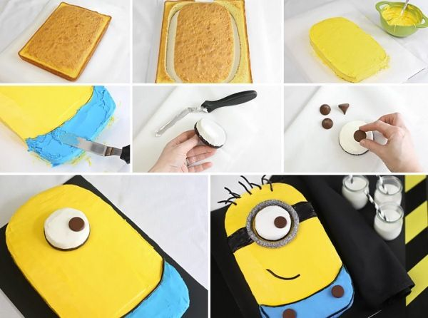 How To Make Despicable Me Minion Cake
