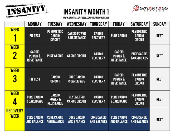 Best 25+ Insanity Workout Schedule Ideas On Pinterest | Insanity