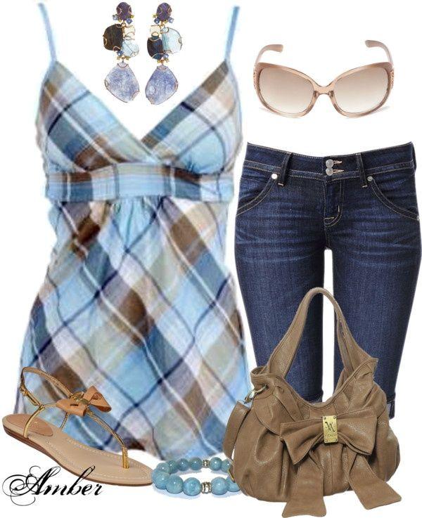 OUTFITS CON UN TOQUE EN AZUL PARA ESTA PRIMAVERA-VERANO 2015 Hola Chicas!!! El color azul es un color muy bonito para esta primavera-verano 2015, en esta ocasion les tengo una galeria de fotos con outfits con diferentes tonos de azul y diferentes ideas de como llevarlo, para las mujeres de mas de  50´s o pasaditas de peso en lugar de shorts puede usar los pantalones capri (pescadores) que se te verán mucho mejor.