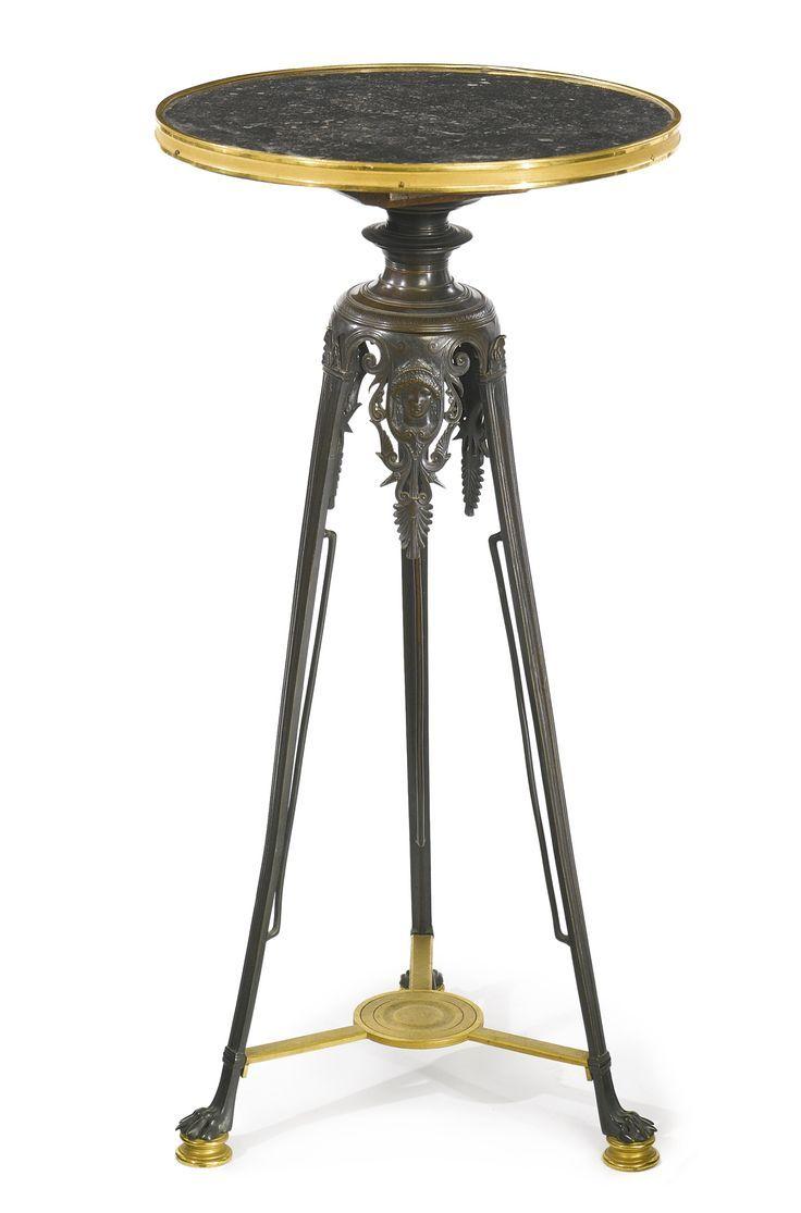 A FINELY CAST NEO GREC GUÉRIDON POSSIBLY CAST BY GEORGE ÉMILE SERVANT Paris, circa 1875-80 Estimate  6,000 — 8,000  USD