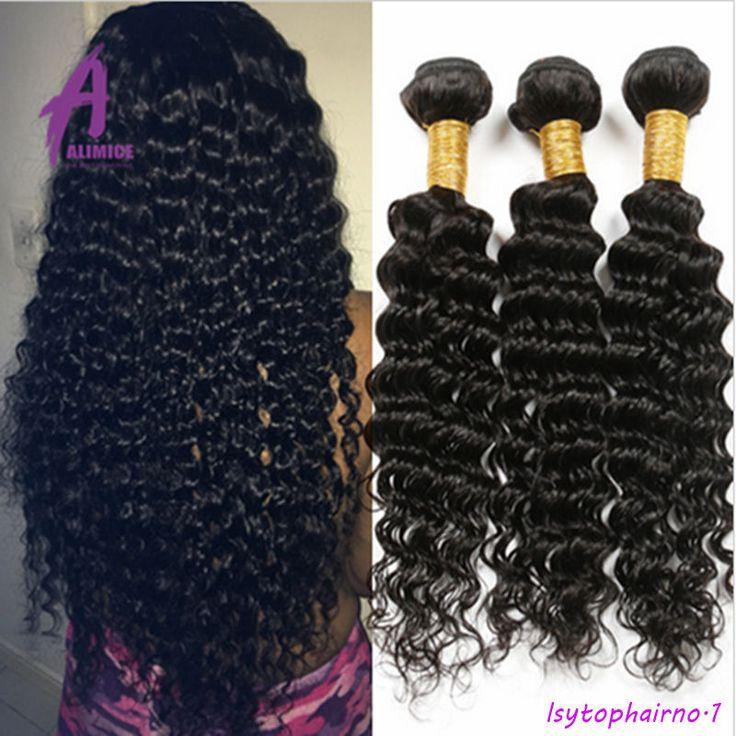 Curly Hair Brazilian Hair 100% Human Hair Extensions Weave 3 bundles Thick Deep