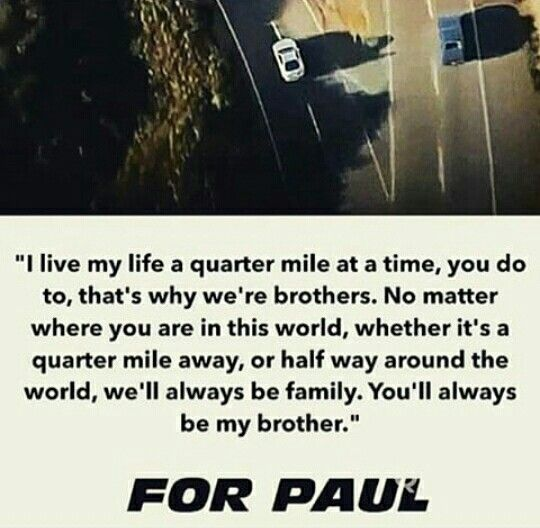 per Vin Diesel, fast and the furious 7. love that movie.