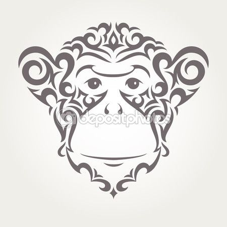 Векторная иллюстрация обезьяны, символом нового года 2016 — Векторное изображение © evdakovka #71975039