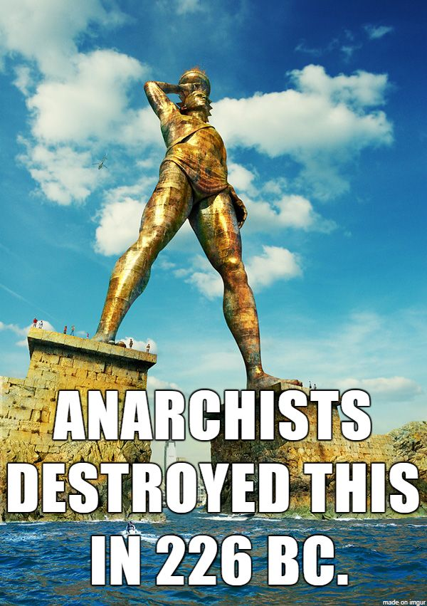 Every now and then, the crazies attack statues and monuments. A few old Greeks blame an earthquake, but it may have been a bunch of anarchists who were paid by an evil Hungarian or were angry that a side of beef wasn't in charge of their city-state.