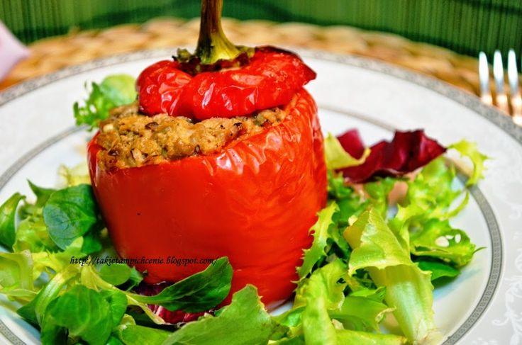 Smak, zapach, kolor, tradycja z nutką nowoczesności...: Papryka faszerowana mięsem i soczewicą
