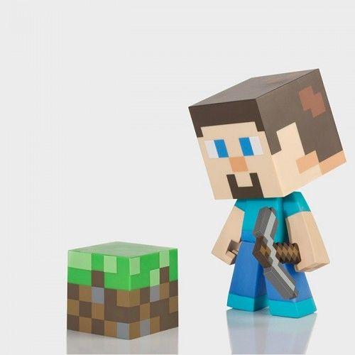 Minecraft Steve Vinyl Figure  on Yellow Octopus #giftsformen #gifts #minecraft #vinyl #figure
