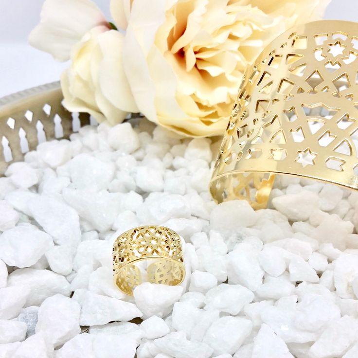 Moucharabieh bijoux: bague  ajourée Moucharabieh collection DEAR ORIENT. Bijoux marocains - Prochainement disponible sur le site officiel de la marque (site en construction) bijoux orientaux - bijoux marocains - moroccan jewelry - oriental jewelry - wedding jewelry