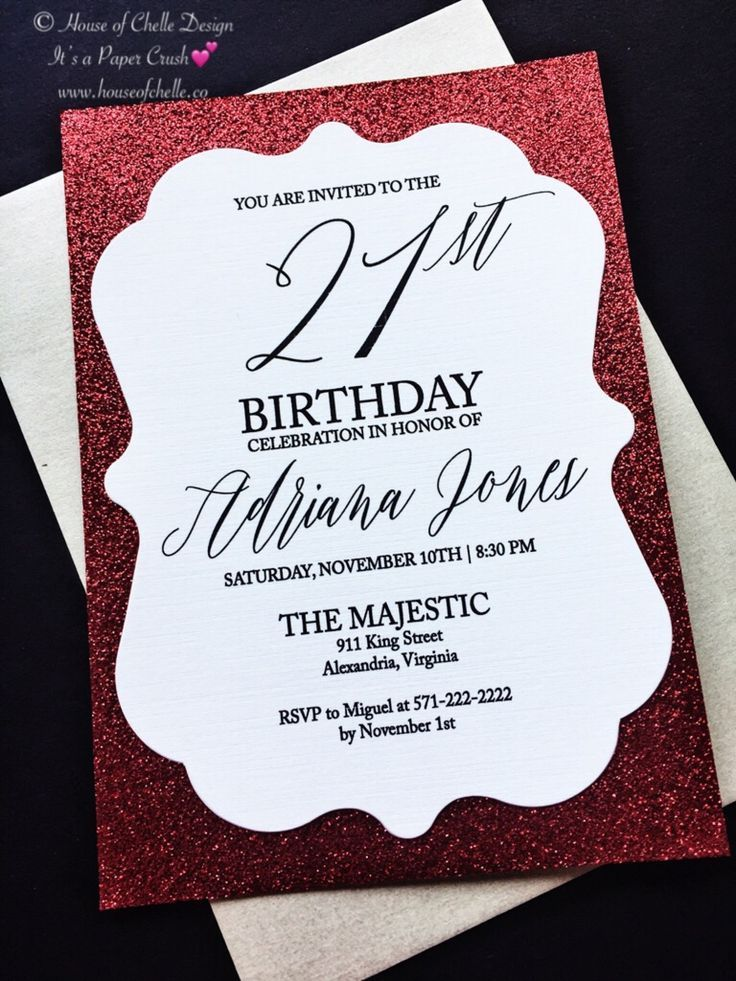For Your Birthday Celebration Or Party Don T Settle For Out Of The Box Invitat 21st Birthday Invitations Glitter Invitations Birthday Invitation Card Birthday