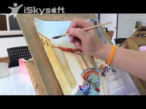 Venice in watercolor painting - YouTube