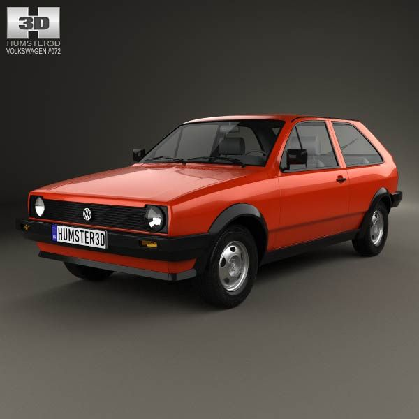 Volkswagen Polo coupe 1990 3d model from humster3d.com. Price: $75