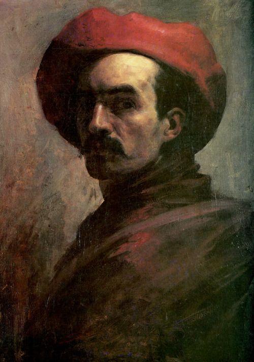 Autorretrato con sombrero rojo (1887) Cristóbal Rojas (Venezuela